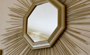 diy sunburst mirror, crafts, home decor, wall decor
