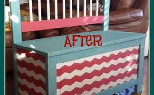 chevron bench, painted furniture