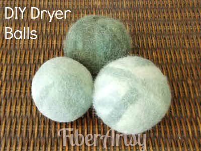 easy diy felted wool dryer balls, crafts