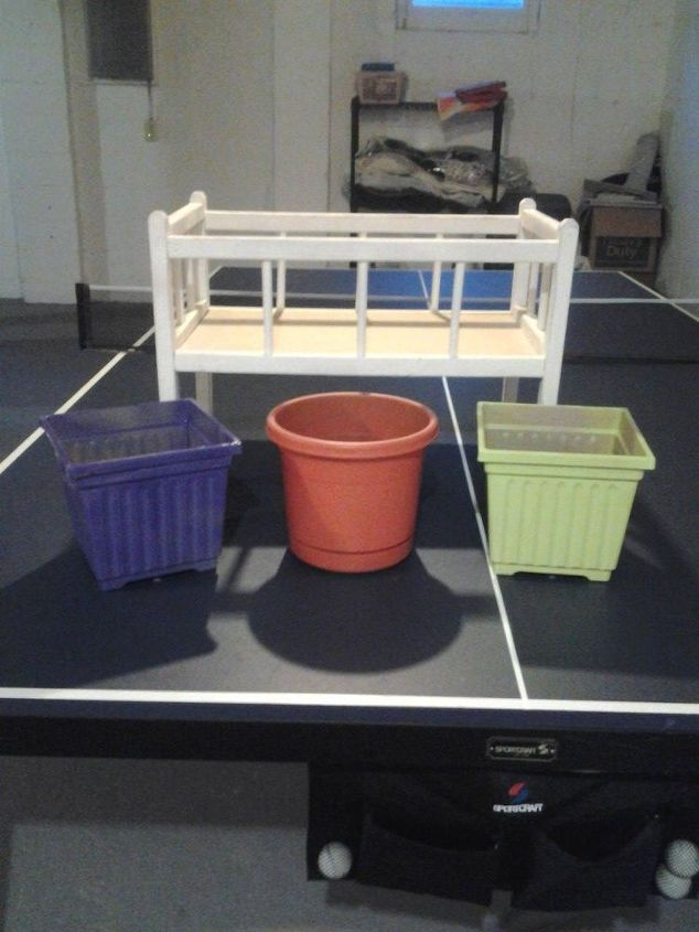 doll crib, painted furniture, repurposing upcycling, good condition doll crib thought maybe use as a planter outside