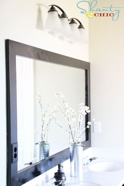 DIY Bathroom Mirror
