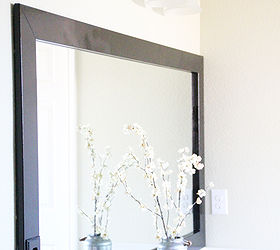Diy Cheap And Easy Bathroom Mirror Frame, Bathroom Ideas, Home Decor, DIY  Bathroom
