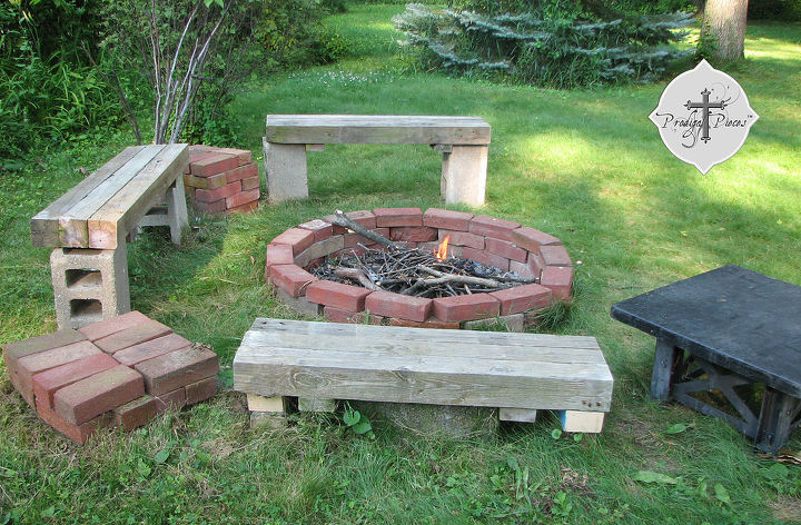 backyard fun reclaimed style 2 fire pit, outdoor living, You can build your  own - Backyard Fun ~ Reclaimed Style #2 ~ Fire Pit Hometalk