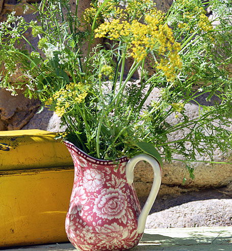 Flowering herbs make a wonderful bouquet, but it is best to choose herbs that have not already flowered. This allows the concentration of oils, and consequently the flavor, to remain in the leaves, not in the production of flowers.