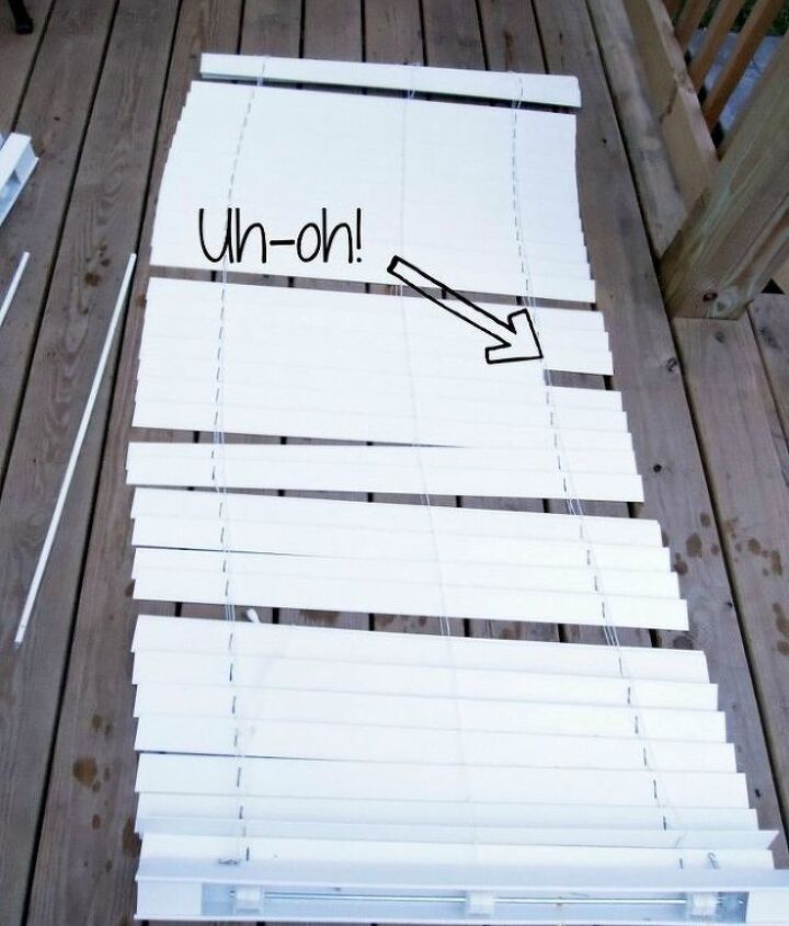 how to clean blinds the easy way, cleaning tips, Broken slats can be repaired easily by swapping it out for a perfectly good one on the bottom