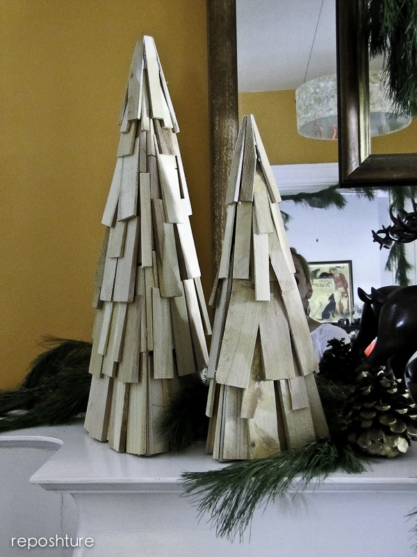 wood shim christmas trees, christmas decorations, crafts, seasonal holiday decor, woodworking projects