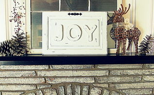 wood letter christmas sign with old cabinet door, christmas decorations, crafts, repurposing upcycling, seasonal holiday decor, woodworking projects, Use any word you want for a cute sign I chose Joy for Christmas