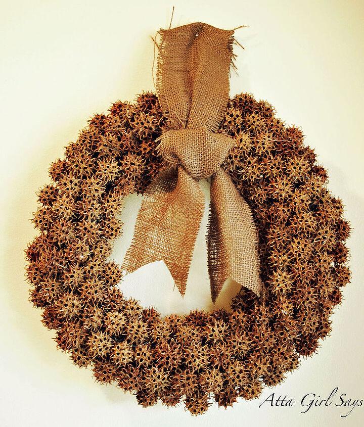 Fall Sweet Gum Ball Wreath