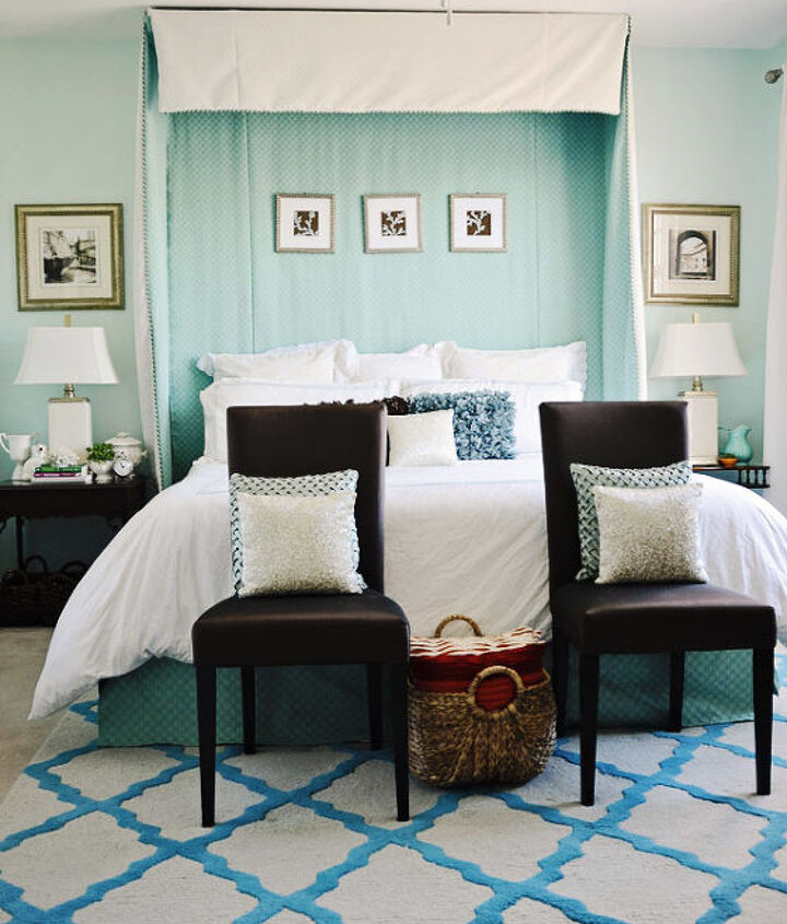 My Turquoise and White Bedroom