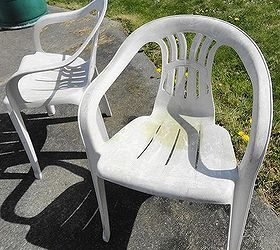 Great White Rubbermaid Chairs Set Of Four Painted Given A Custom Look, Painted  Furniture, These