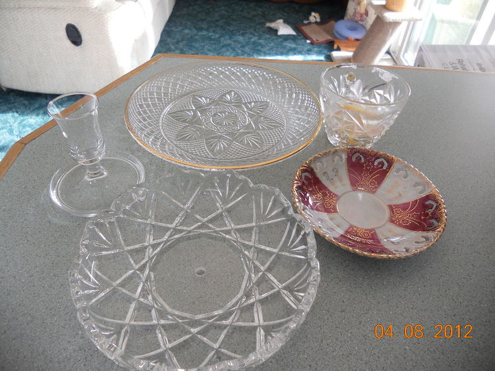 glass pieces from goodwill