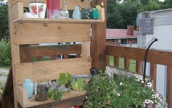Planting Bench Out of Pallets