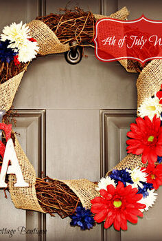 4th of july inspired wreath, seasonal holiday d cor, wreaths
