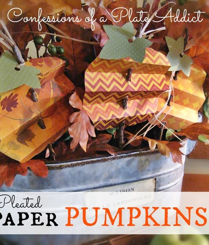 Fun, easy and inexpensive pleated paper pumpkins!
