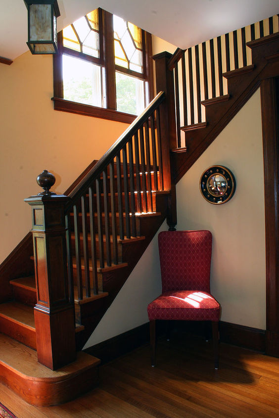 Entry staircase in Westport, CT home renovation. ~ Titus Built, LLC