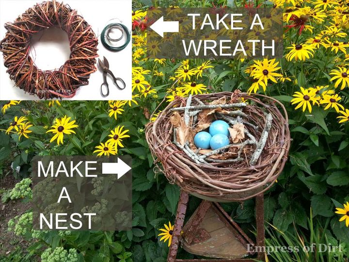 You could also make little nests for table decorations or shape the vine into letters on a garden sign. :)