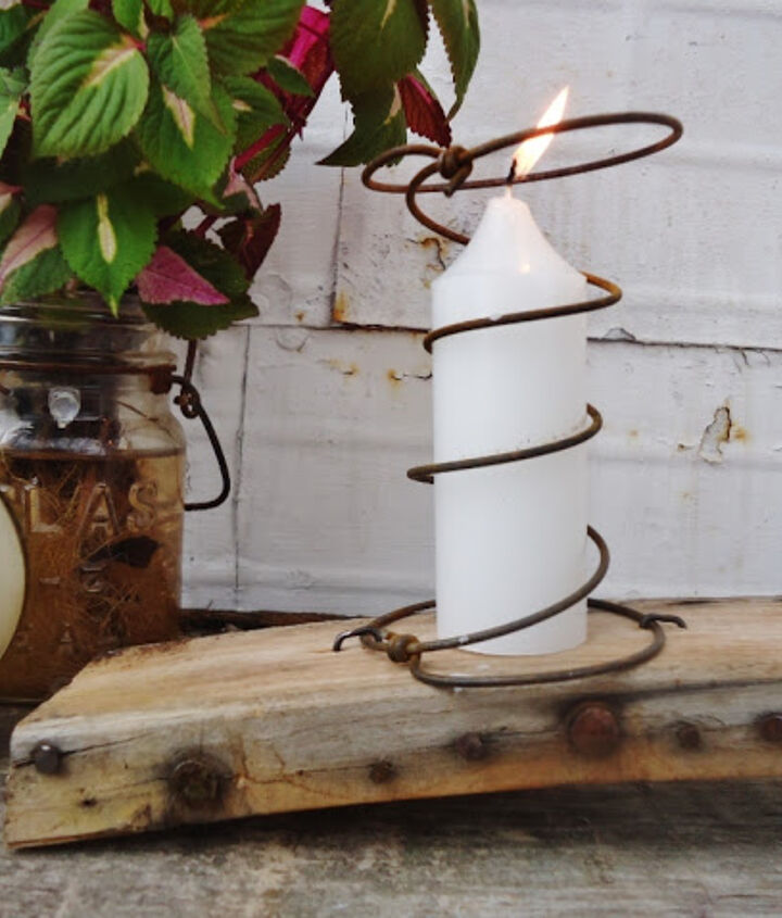 quirky candle holder, crafts, repurposing upcycling