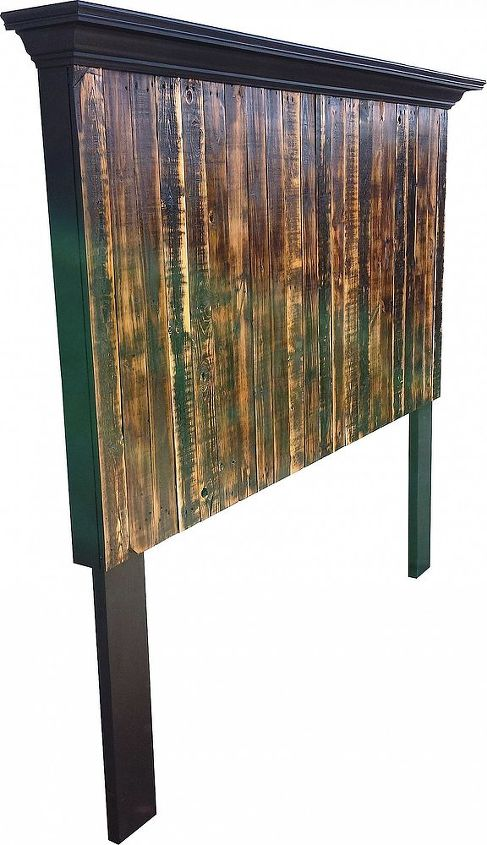 6 tall king size pallet headboard, bedroom ideas, painted furniture, pallet, repurposing upcycling