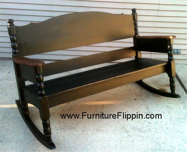 Full Size Bed turned Triple Rocker
