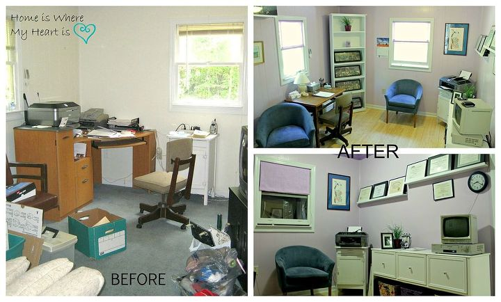 Before and after of the office space