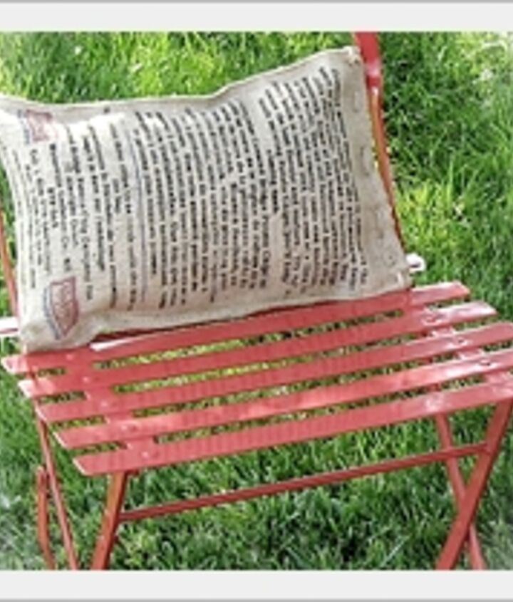 chip bag into outdoor pillow, outdoor living, repurposing upcycling