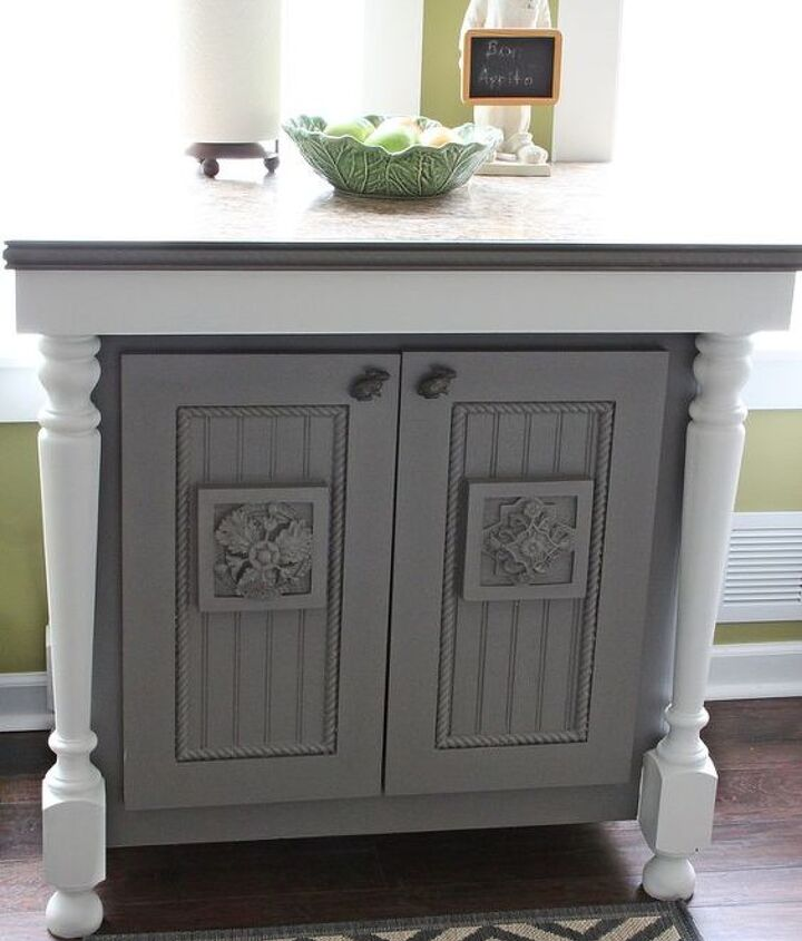 My island was handmade and I just repainted it gray to flow better with my kitchen.