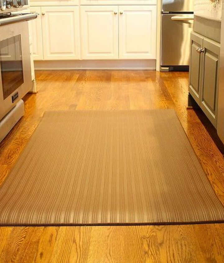 here s how to make cooking standing in the kitchen more comfy, flooring, hardwood floors, kitchen design