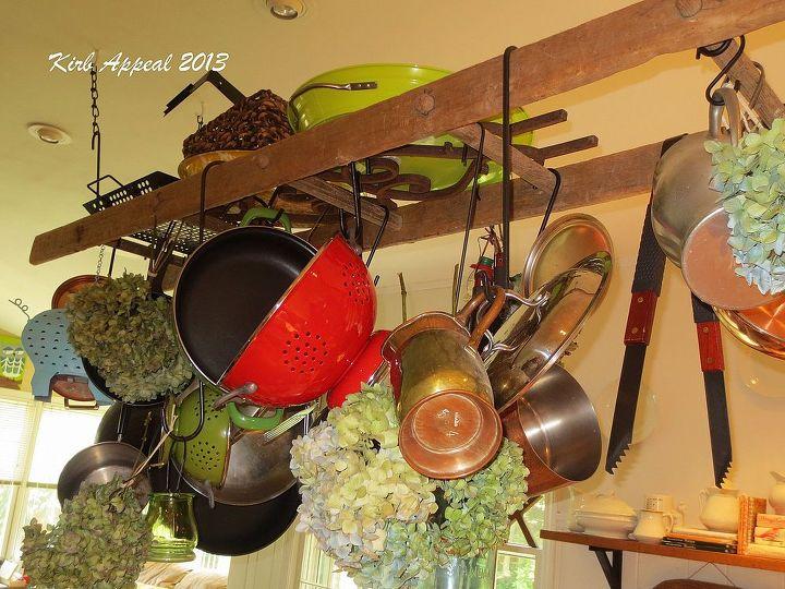 creative pot rack, diy, kitchen design, storage ideas, Finally