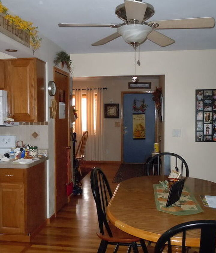 one view of dining area and hallway