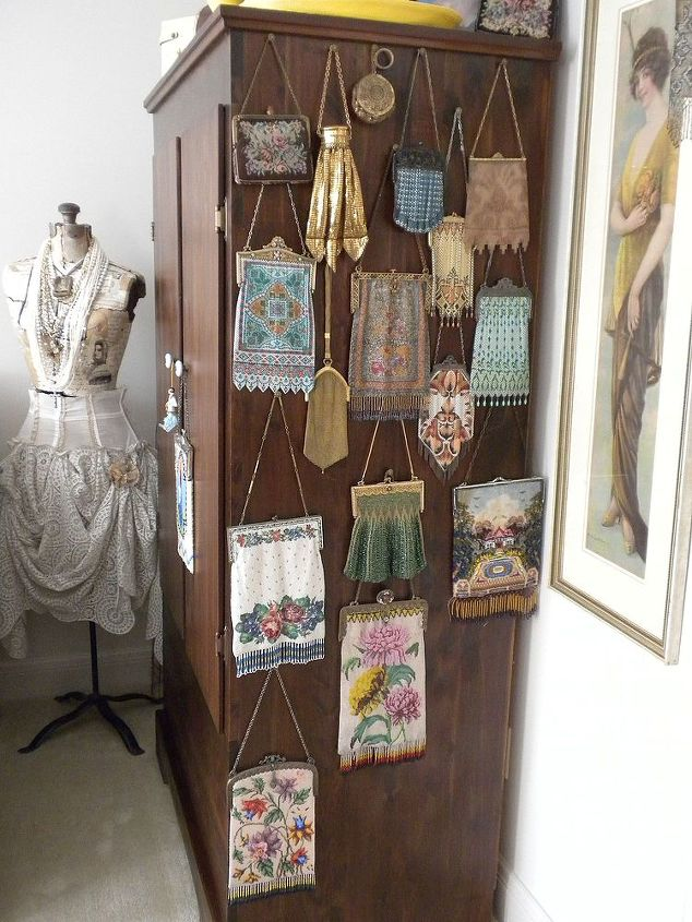 nice way to glam up an otherwise boring wardrobe display, cleaning tips, home decor, painted furniture, repurposing upcycling, Free standing wardrobe display