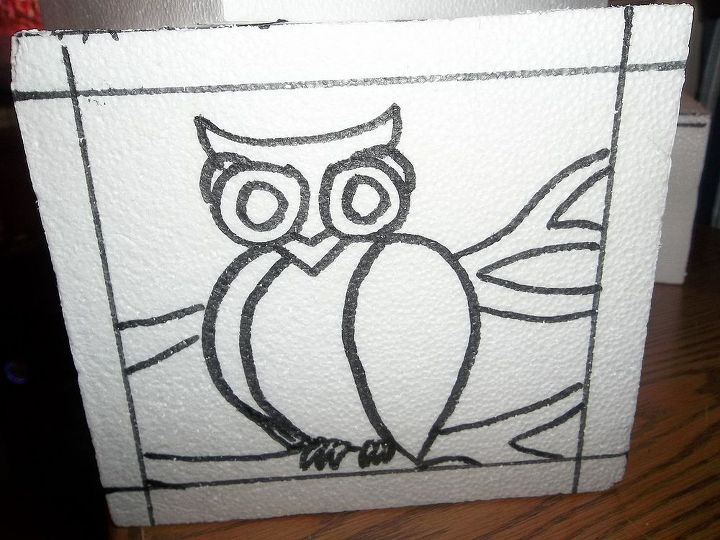 draw your design- make sure it is not tiny or detailed ( owl legs in this case- they were too small)