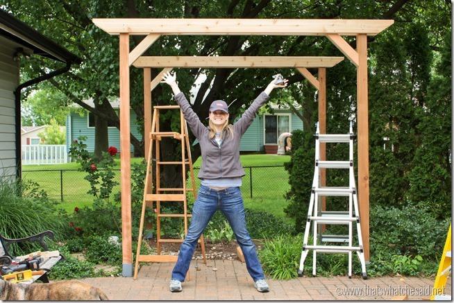 diy weekend pergola project, diy, outdoor living, woodworking projects, Add corner braces