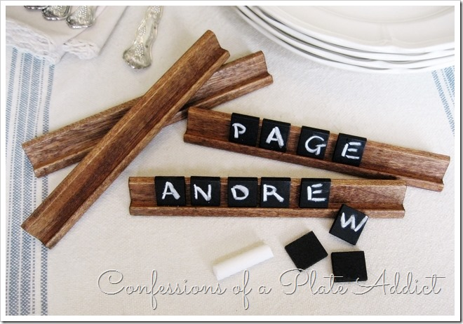 Pottery Barn Inspired Chalkboard Tiles via Confessions of a Plate Addict