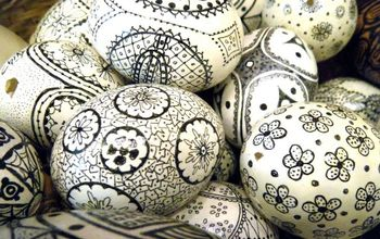Create These Unusual Easter Eggs By Using A Sharpie and Some Hollowed-out Egg Shells