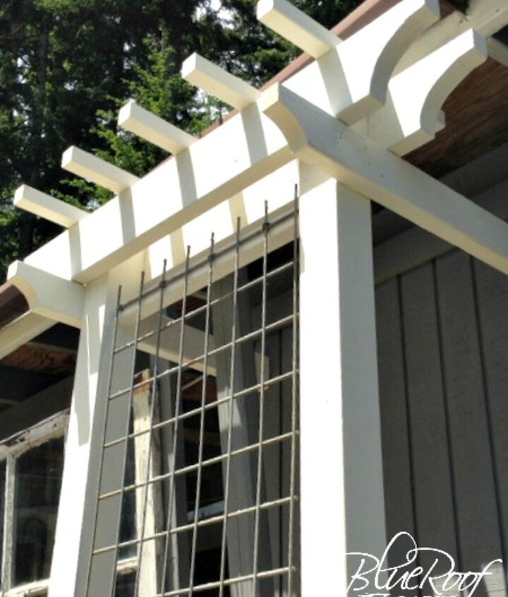 Add architectural interest with an easy DIY trellis
