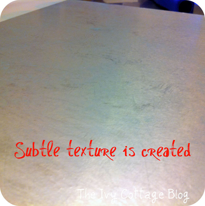 Subtle texture created by wrinkling the aluminum foil first.