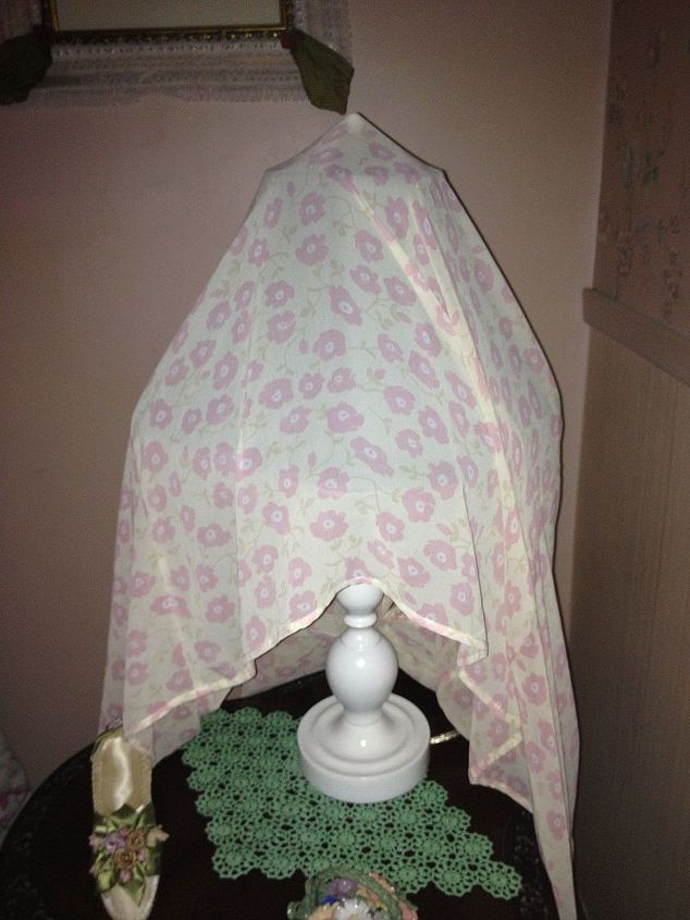 lamps, home decor, This lamp has a nightie thrown over shade
