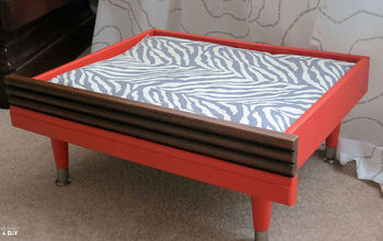 testing out the diy cat bed theory, painted furniture, pets animals, repurposing upcycling