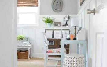 before and after home office makeover, craft rooms, home decor, home office
