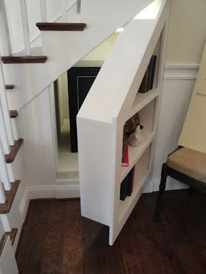 why not use your under the stair storage for storage and a hidden panic room?