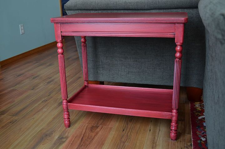 end table makeover and a personal challenge, home decor, living room ideas, painted furniture
