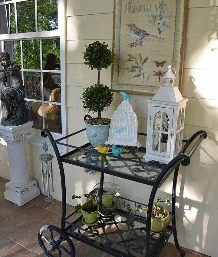 spring porch makeover, outdoor furniture, outdoor living, porches