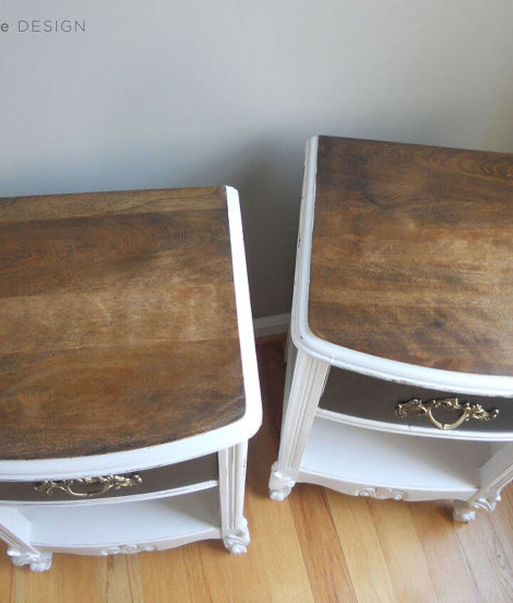 The top was sanded and stained with one coat dark walnut stain then sealed with Varathane Satin Polyurethane.