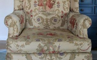 painted upholstered chair annie sloan chalk paint, chalk paint, painted furniture