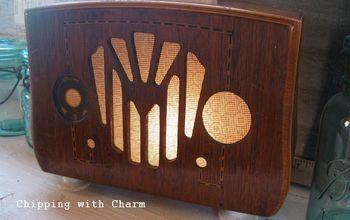 Old Radio Shell Turned Light...let It shine...