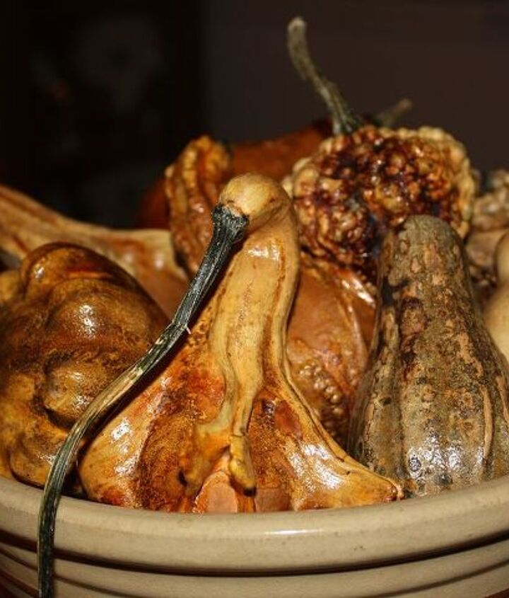 A bowl of dried gourds.