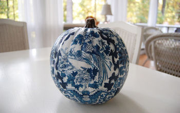 Decoupage a Pumpkin to Coordinate with Your Decor or Favorite Fabric