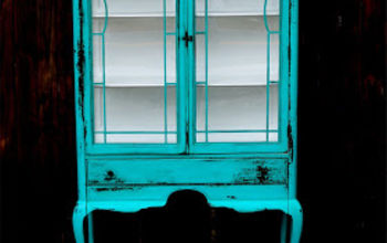 Bold Color on an Antique Hutch