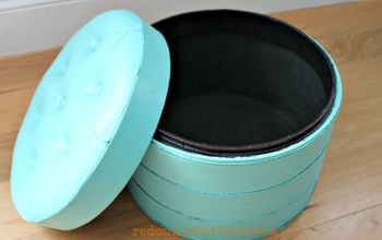 Paint a Vinyl or Leather Pouf, in Just a Poof of Time!
