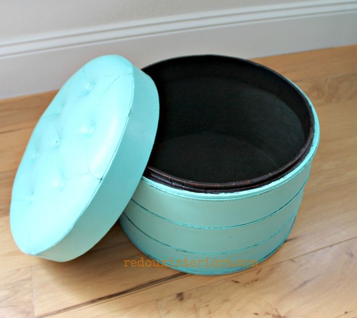 paint a vinyl or leather pouf in just a poof of time, painted furniture